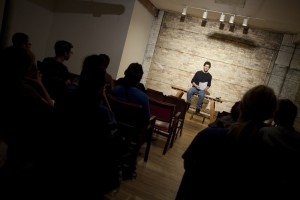 Daniel Thau-Eleff in reading of Good People Bad Things